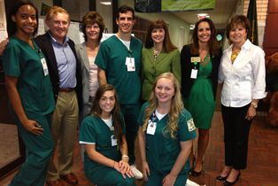 Baylor Nursing Students